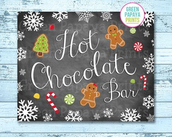 Hot Chocolate Bar Sign, Instant Download, Winter Wonderland, Winter Onederland, Hot Cocoa Party, Printable, Digital File, Christmas