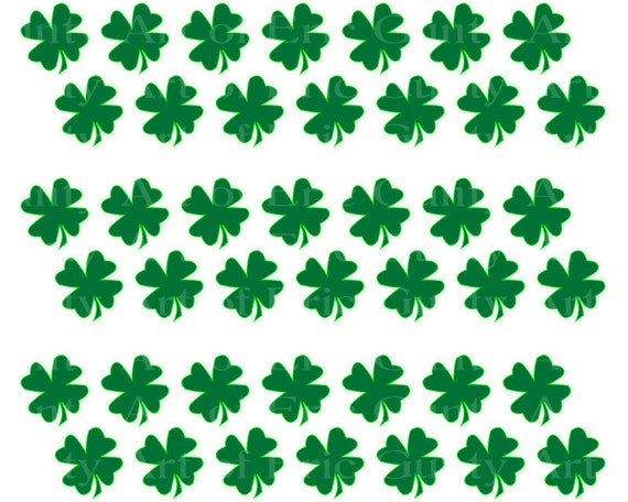 Irish St. Patrick's Day Clover - Birthday Background - Designer Strips - Edible Cake Side Toppers- Decorate The Sides of Your Cake! - D22126
