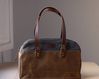 Waxed canvas bag KEIRA