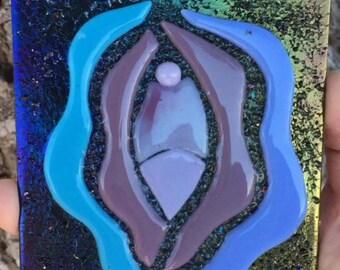 Black Iridescent Vagina Coaster 4mygurlz