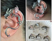 Dragon Ear Cuff, Inspired by Game of Thrones for Pierced Left Ear, Custom Painted Dragon Cuff, Personalized Dragon Gift, Supernatural Gift