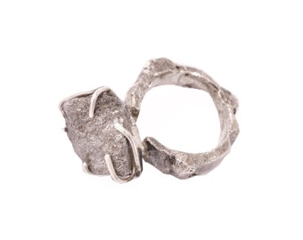 50% OFF Sterling silver ring with Pyrite