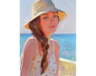 Summer Afternoon - original oil painting - FREE SHIPPING WORLDWIDE
