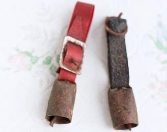 Cow Bells - Set of 2 Antique Miniatures