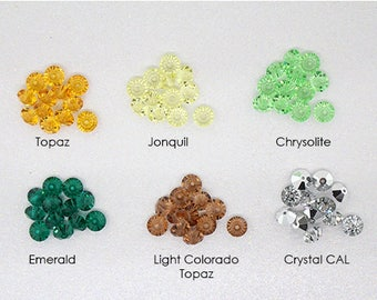 12 Vintage Swarovski 5305 Spacer Beads (6mm) - CHOOSE COLOR!