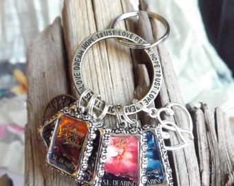 Beautiful Multi-Cover Key Chain - Can be Customized for any Series