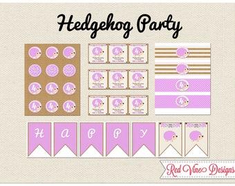Hedgehog Party Printables