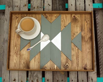 Aztec Serving Tray + Serving tray + ottoman Tray + Aztec art + breakfast tray