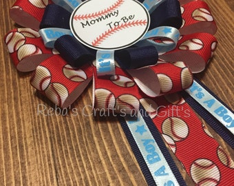 Mommy To Be - Baseball - Baby Shower Pin -Corsage -Sports