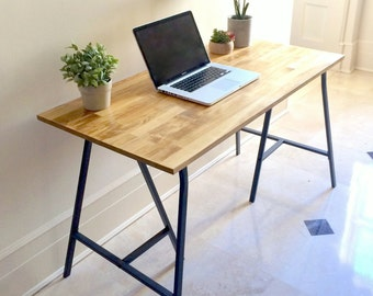 Long Narrow Desk/ Table on Ikea Legs. CHOOSE ANY SIZE. Free Shipping!