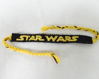 Handmade Star Wars Bracelet, Friendship Bracelet, Alpha Bracelet