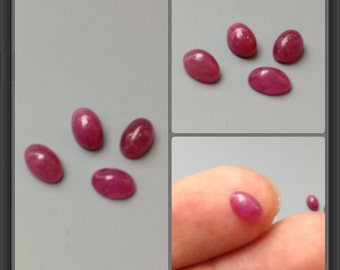 Ruby cabochon 6x4mm