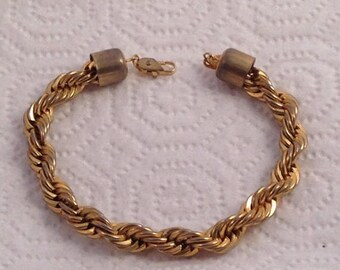 Now On Sale Vintage Gold Chain Braided Bracelet