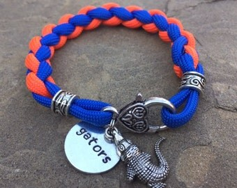 Florida gators ladies paracord bracelet