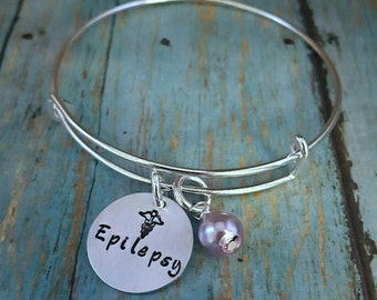 Epilepsy Bracelet - Epilepsy Jewelry - Epilepsy - Epileptic - Epilepsy Awareness - Medical Alert - Medical Bracelet - Awareness Jewlery