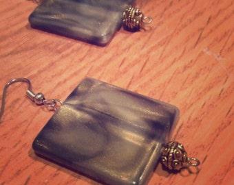 Olive Dreb Square Drop Earrings