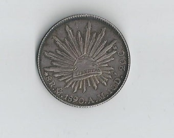 1890 MoAM 8 Reales Mexico