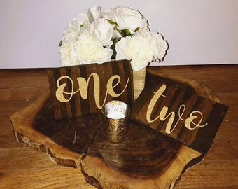 Set of 10 Wedding Table Numbers