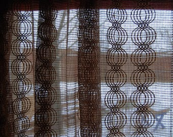 70's translucent curtains, two pieces