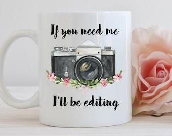 Photography mug, gift, editing, camera