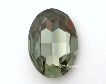 4127 BLACK DIAMOND 30x22mm Swarovski Crystal Oval Fancy Stone No Hole