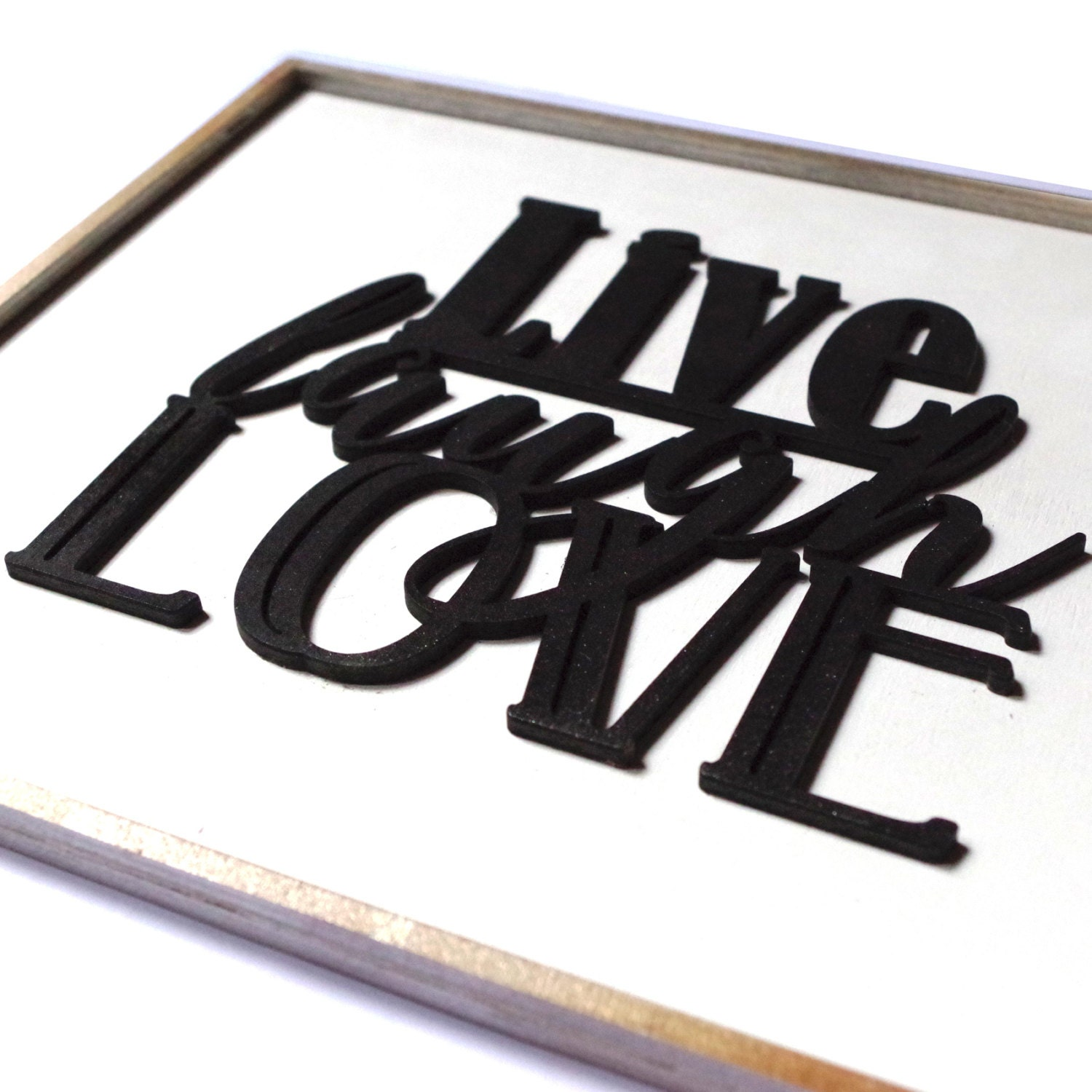 Live laugh love wall decor wooden canvas with relief writing live laugh love wall decor wooden canvas with relief writing custom colors amipublicfo Image collections