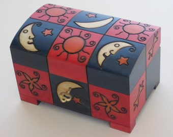 Jewelry box wooden chest
