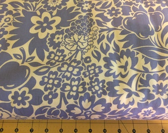 """Fabric Finders Blue/White Floral Twill 60"""" width"""
