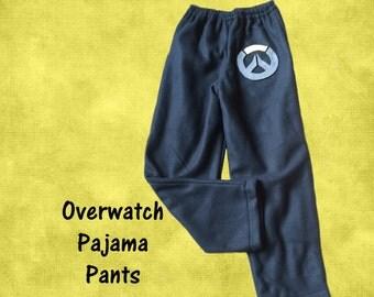 Overwatch Fleece Lounging Pajama Pants Child or Adult