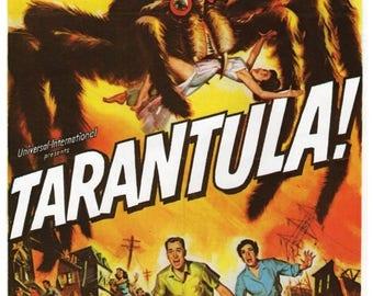 "50% Off Estate Sale Vintage Horror Science Fiction Movie Poster Print, 1955, Tarantula, PMSF 11"" x 14"""