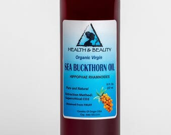 8 oz SEA BUCKTHORN Oil UNREFINED Organic Virgin Supercritical CO2 Extracted Pure