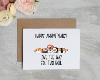 Love the way you two roll Anniversary Card