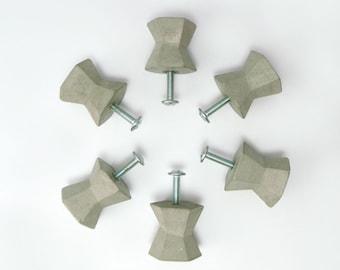 Perillas - Tiradores de cajones y puertas de armarios de Hormigón | Pomos de armario | Pomos de cemento | Perillas de hormigón