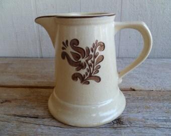 Vintage Pfaltzgraff Pitcher Creamer Pottery