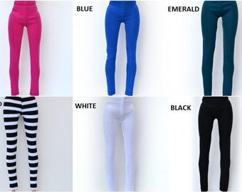 Barbie leggings 10 colors Barbie clothes, barbie handmade clothes, fashion doll clothes