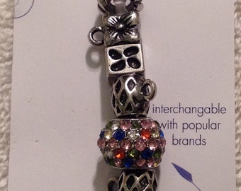 Darnice 9 piece Mix and Mingle Metal Beads....Interchangeable with Popular Brand Bracelets....NEW