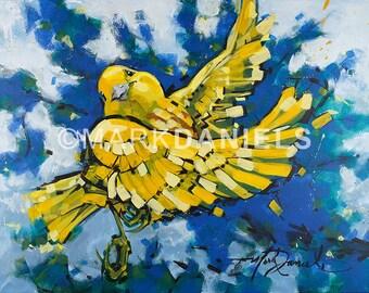 "Warbler's Joy 16""x20"" giclee print on canvas"
