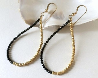 Evening Earrings-Unique Earring Wife-Black Spinel-Gifts Under 50-21st Birthday Gifts-Bestfriend-Classy Women Gift-Sexy Jewelry For Her-Edgy