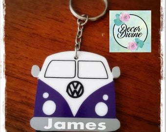 Personalised Campervan Keyring/VW Camper/VW Keyring/Campervan Keyring/Personalised Keyring/Man Gift/Boyfriend Gift