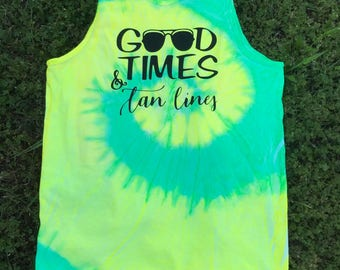 Good Times & Tan Lines Beach Tank
