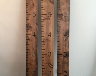 Wooden Growth Chart Ruler - Childrens Growth Ruler - Wooden Ruler - Measuring Ruler For Kids - Growth Chart Ruler