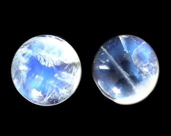 20MM Round Shape, Rainbow Moonstone Cabochon Lot, Wholesale Lot For Making Jewelry, Blue Fire, White Moonstone, Wholesale Lot, AG-222