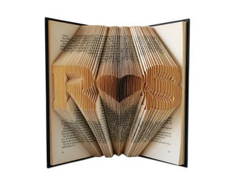 Folded Book Art, Cotton Anniversary Gift, Cotton anniversary gift for her, Paper anniversary gift for him, Anniversary gift for women, Gifts