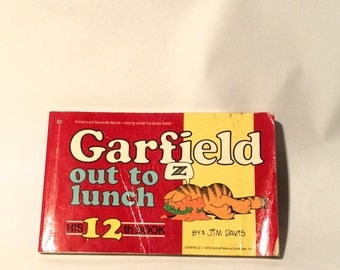 Vintage 1980s Jim Davis Garfield Out to Lunch Comic Strip Compilation Book