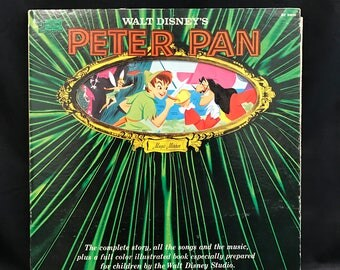 PETER PAN RECORD, Peter Pan Illustrated Story, Peter Pan recording, Walt Disney Peter Pan record, Disneyland Record, Peter Pan soundtrack