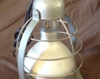 Vintage retro Bretford industrial cage light Model TD-6