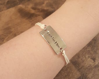 Customizable Hand-stamped Cord Bracelet