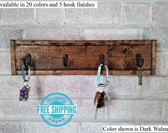 FREE SHIPPING - Herringbone Style Key Rack by Lane of Lenore - Key Holder - Key Sorter - Key Hooks - Key Holder for Wall - Wall Hooks