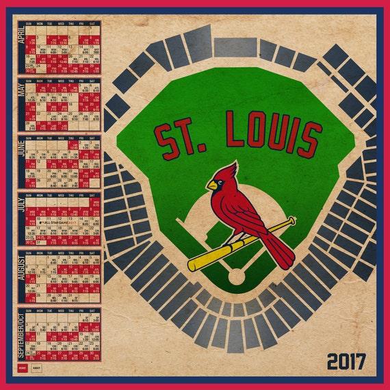 St louis cardinals 2017 schedule print - St louis cardinals downloadable schedule ...