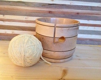 Wood Yarn Bowl crafted from Maple- 16MPYB005